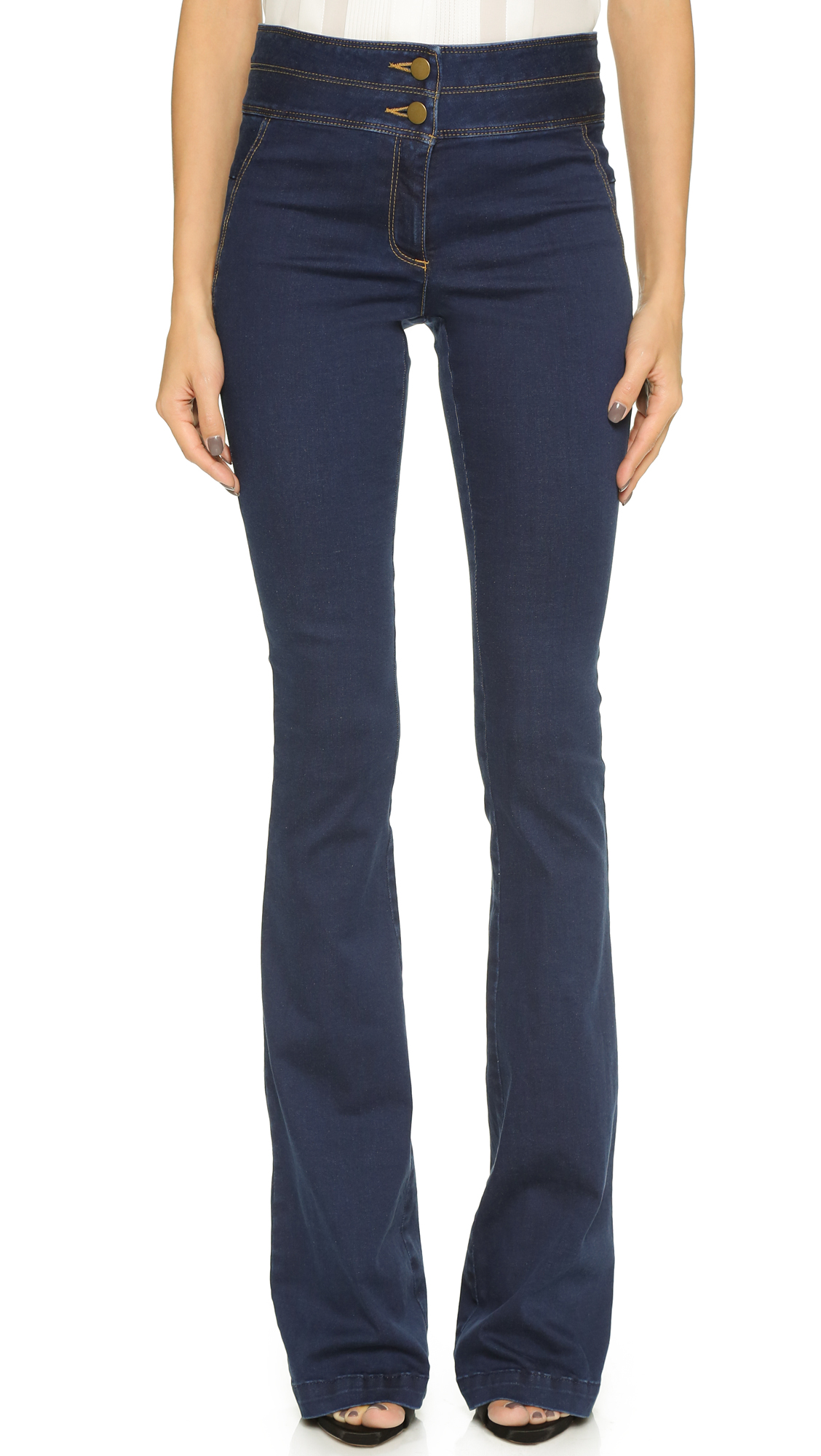 Veronica Beard High Waisted Flare Jeans | 15% off first app ...