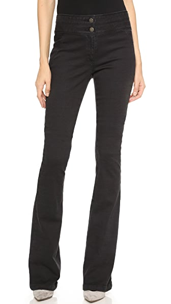 Veronica Beard Flare Leg Pants In Grey
