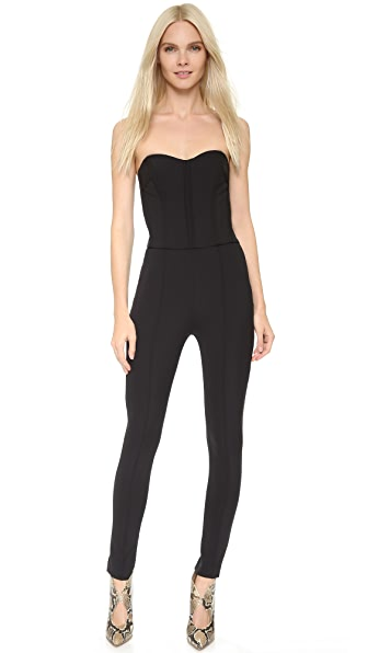 Veronica Beard Bustier Jumpsuit - Black
