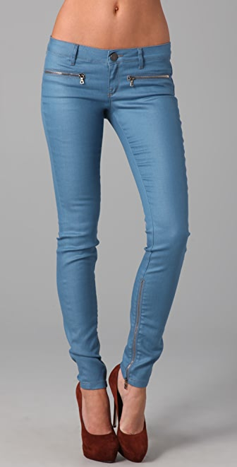 Victoria Beckham Zip Low Rise Skinny Jeans  SHOPBOP