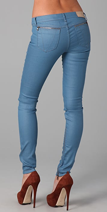 Victoria Beckham Zip Low Rise Skinny Jeans