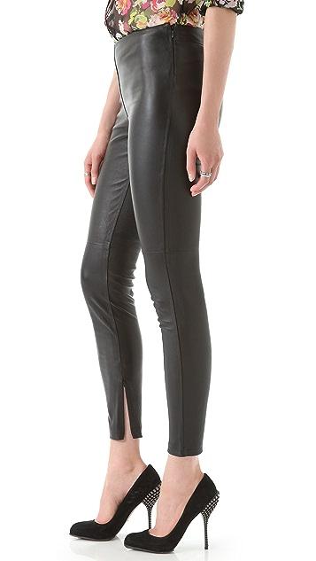 Victoria Beckham Leather Leggings