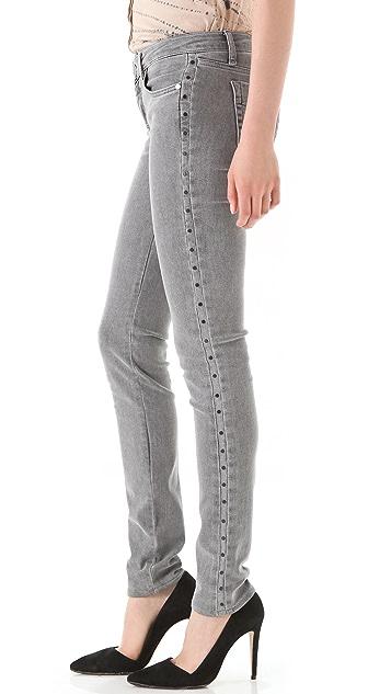 Victoria Beckham Studded Side Panel Jeans