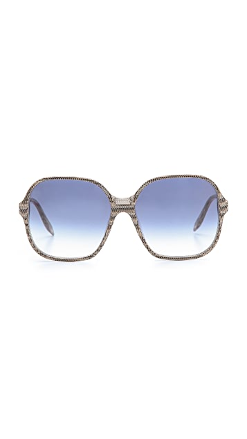 Victoria Beckham Oversized Square Sunglasses