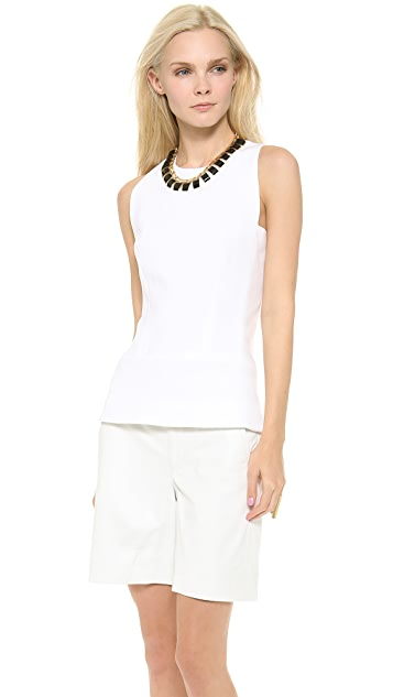 Victoria Beckham Round Neck Shell Top