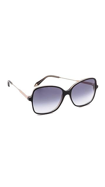 Victoria Beckham Marine Fine Square Sunglasses