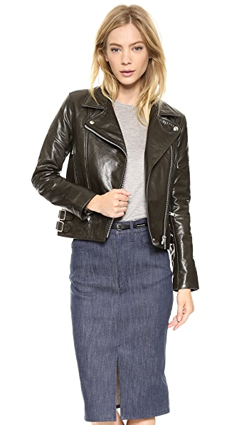 Victoria Beckham Joan Leather Biker Jacket
