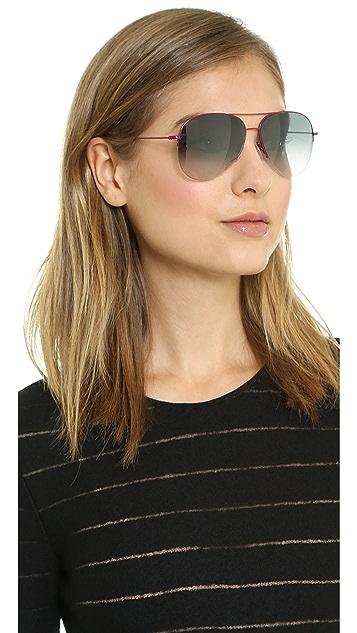 Victoria Beckham Petite Aviator Sunglasses