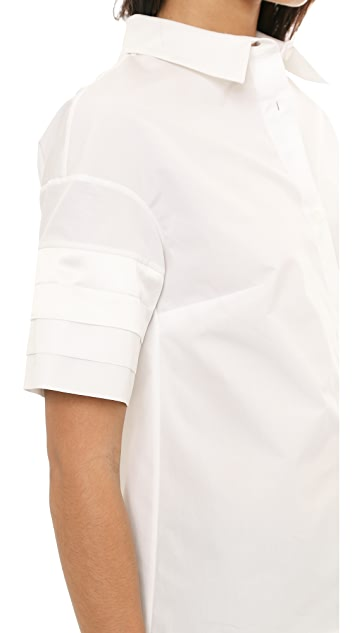 Victoria Beckham Pleat Sleeve Shirt