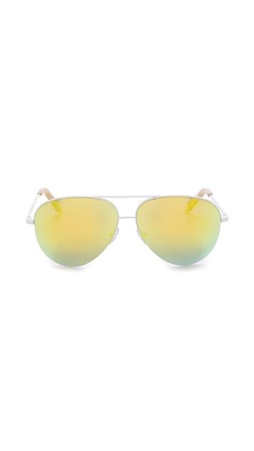 Victoria Beckham Modern Aviator Sunglasses