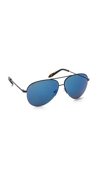 Victoria Beckham Классические солнцезащитные очки-авиаторы Victoria