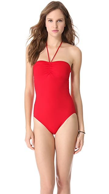 Veronica Brett Ruched One Piece Swimsuit