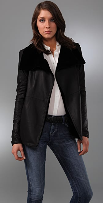 VEDA Idaho Reversible Leather Jacket