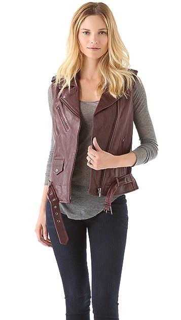 VEDA Castor Leather Vest