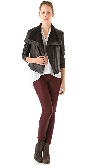 VEDA Max Classic Leather Jacket