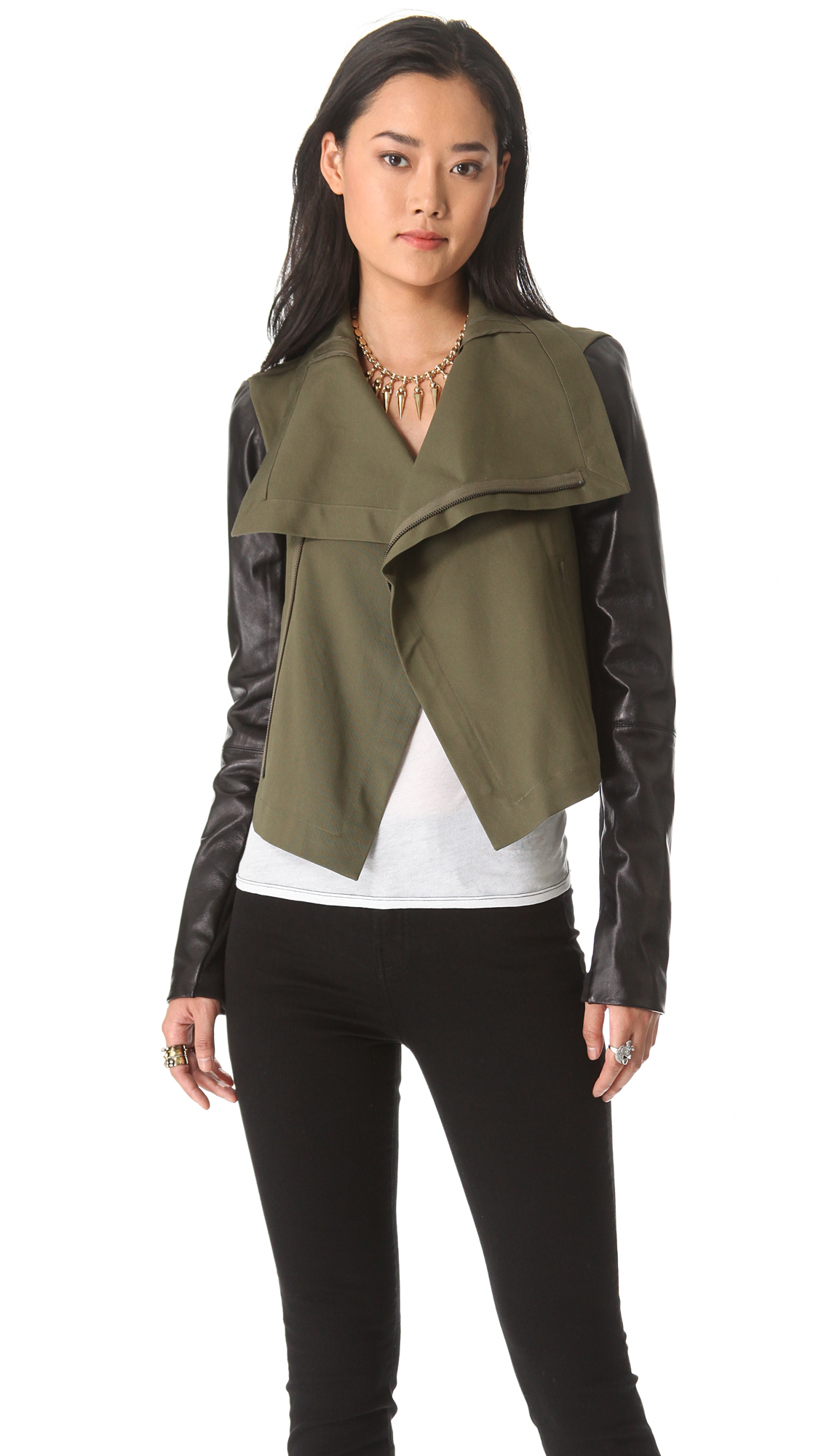 VEDA Max Army Leather Jacket | SHOPBOP