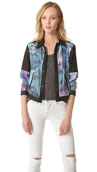 VEDA Ezra Jacket with Leather Trim