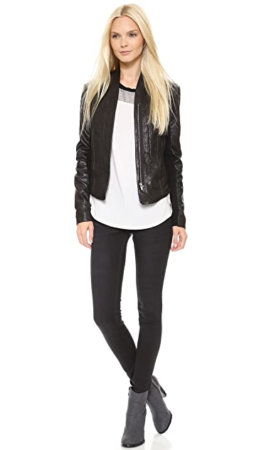 VEDA Boss Classic Leather Jacket