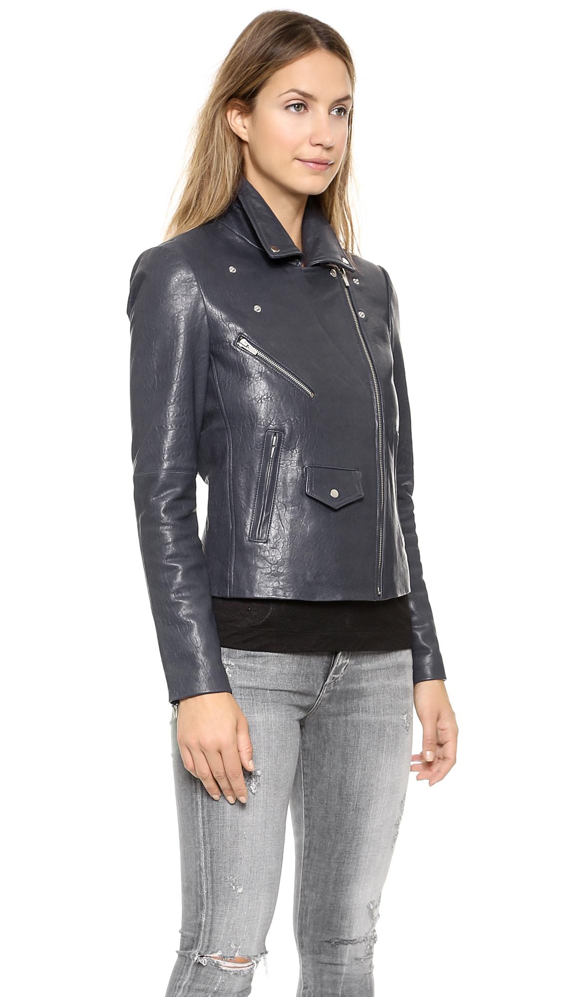 e702203cc VEDA Lazer Classic Leather Jacket | SHOPBOP