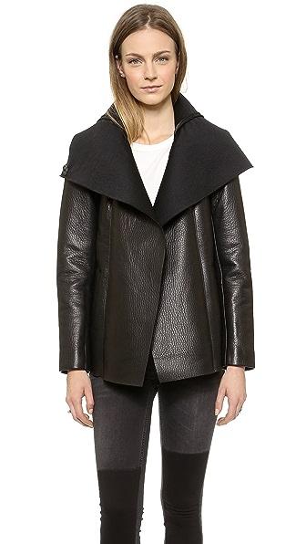 VEDA Commune Leather Coat