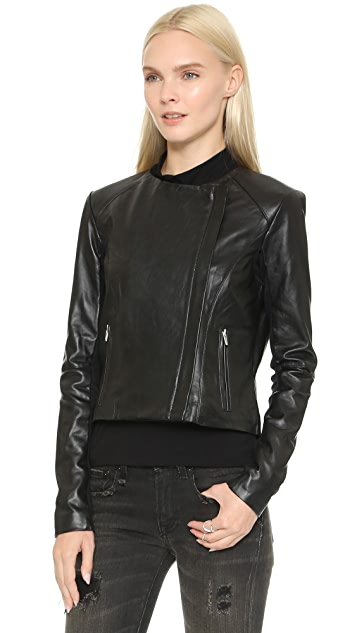 VEDA Dali Classic Leather Jacket