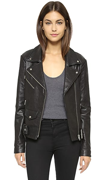 VEDA Jayne Classic Leather Jacket at Shopbop