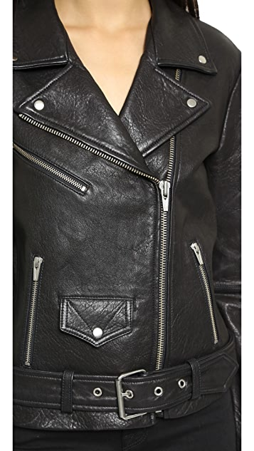 VEDA Jayne Classic Leather Jacket