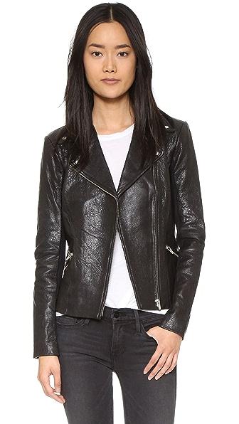 VEDA Dallas Leather Jacket at Shopbop