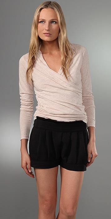 Velvet Samara Draped Wrap Shirt
