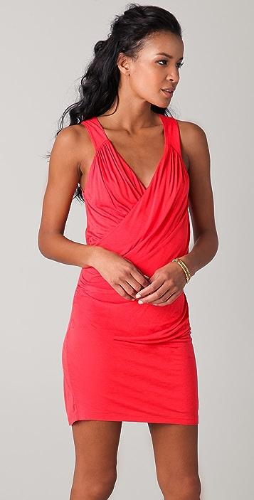 Velvet Harden Slinky Wrap Dress