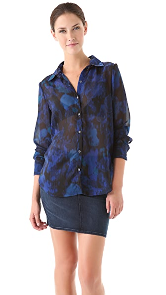 Velvet Zhi Midnight Garden Shirt