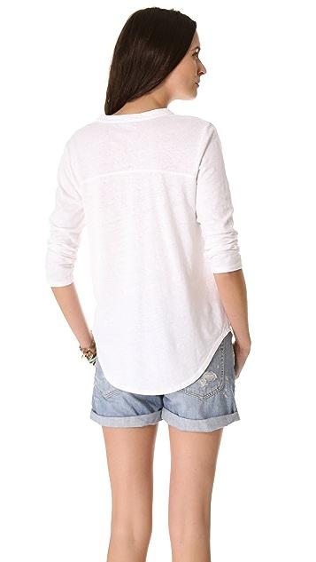 Velvet Hemp Knit Henley