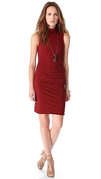 Velvet Alanna Ruched Turtleneck Dress