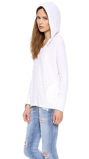 Velvet Dual Sweater Knit Hoodie
