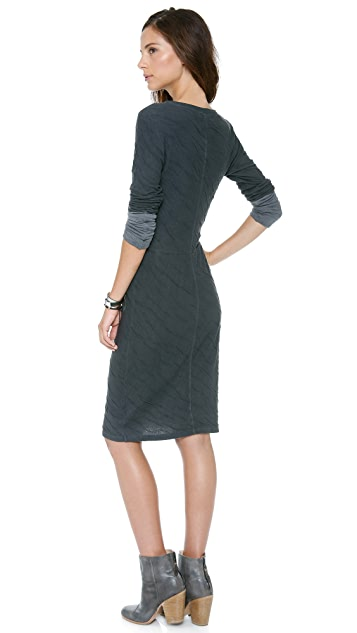 Velvet Dual Sweater Knit Dress