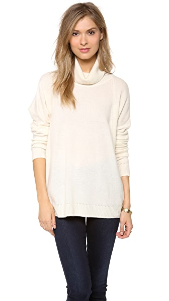 Velvet Cashmere Classic Turtleneck Sweater
