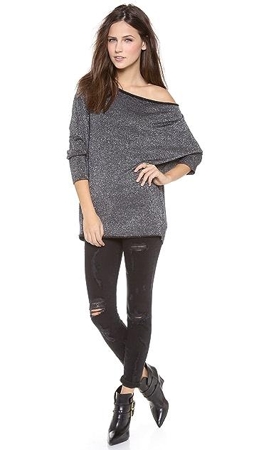 Velvet Metallic Shine Sweater