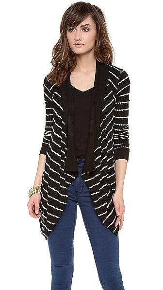 Velvet Monett Striped Thermal Cardigan