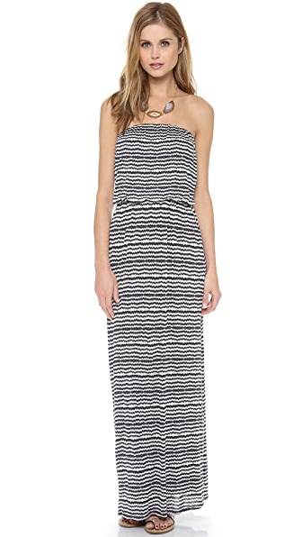 Velvet Glory Aztec Striped Maxi Dress