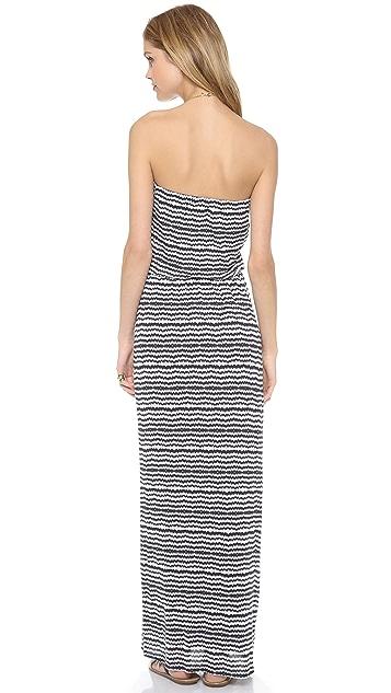 Velvet Glory Aztec Striped Maxi Dress