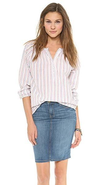 Velvet Charu Pin Stripe Blouse