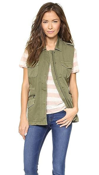 Velvet Twill Cargo Vest