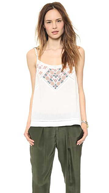 Velvet Charlize Embroidered Tank