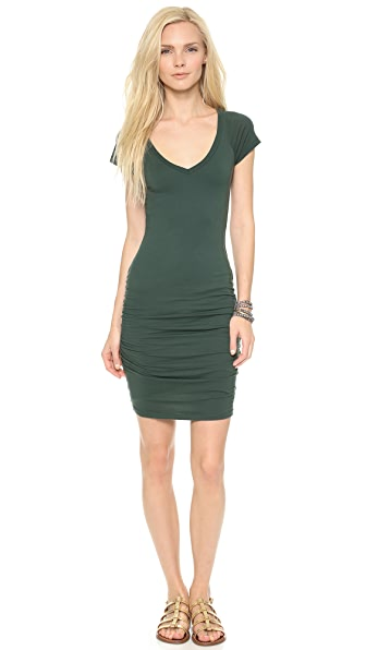 Velvet Gauzy Whisper V Neck Dress