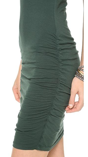 Velvet Gauzy Whisper V Neck Dress