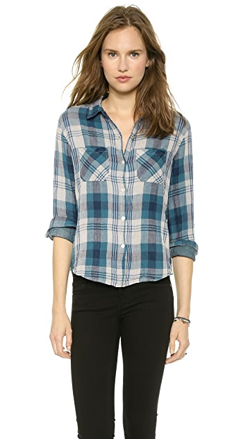 Velvet Adrianna Plaid Shirt