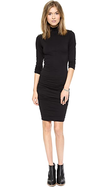 Velvet Gauzy Whisper Turtleneck Dress