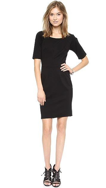 Velvet Ponti Sheath Dress