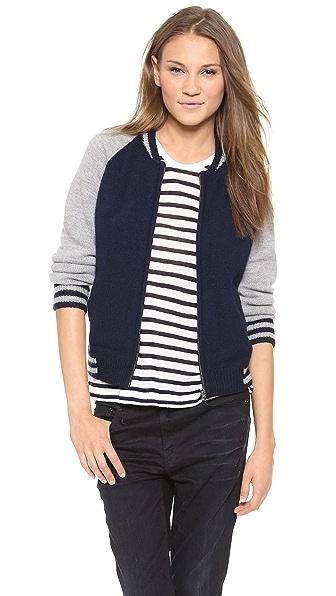 Velvet Knit Baseball Jacket