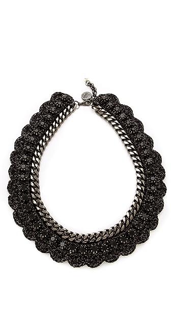 Venessa Arizaga Black Bowie Necklace
